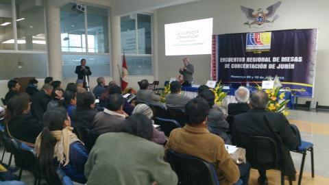 Encuentro regional reunió Mesas de 9 provincias y 16 distritos de Junín