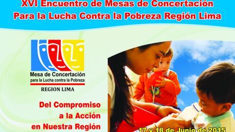 """Región Lima en Encuentro Regional """"Del compromiso a la acción en nuestra región"""""""