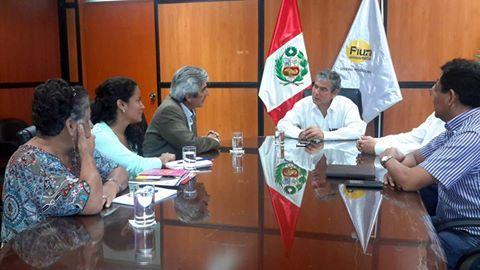Reunión de trabajo Presidente Nacional de la Mesa de Concertación para la Lucha Contra la Pobreza (MCLCP), Federico Arnillas y el Gobernador Regional Piura. Reynaldo Hilbck
