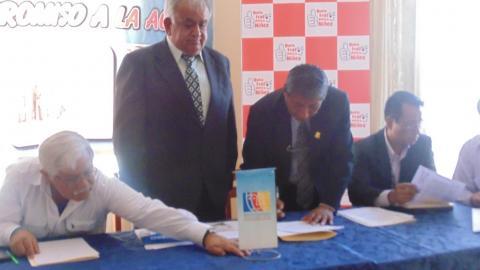 Autoridades ratifican Acuerdos de Gobernabilidad Regional y Provincial de Moquegua al 2018
