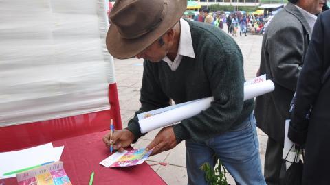 Participación del a MCLCP – Región Cusco en la Feria por el Día Mundial de la Alimentación.
