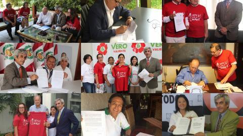 Candidatos presidenciales firmaron Acuerdo de Gobernabilidad  para la reducción de la pobreza y atención a la niñez al 2021
