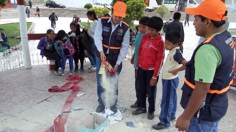MCLCP-Apurímac con Aliados termina las vacaciones interactivas en Gestión de Riesgo de Desastres con los Niño, Niñas y Adolescentes