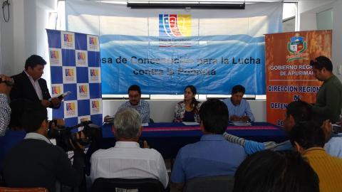 La MCLCP y sus aliados dan una conferencia de Prensa para dar a conocer las actividades por el día de la Solidaridad y reflexión en la prevención de los desastres.