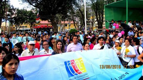 Marcha Nacional #NiUnaMenos en Huánuco