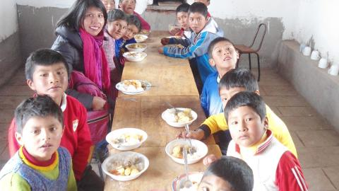 La MCLCP de Puno, realizó la veeduría  de la Campaña Buen Inicio del Año Escolar – Moho, Huantorcota 2017