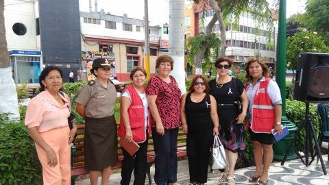 Feria informativa de sensibilización por el Día Internacional de la Mujer en Huacho