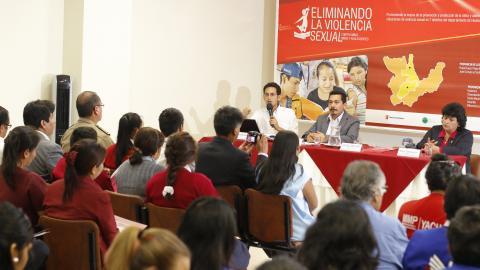 """Presentación del Proyecto """"Eliminando la violencia sexual contra niños, niñas y adolescentes en la región Huánuco en Perú""""."""