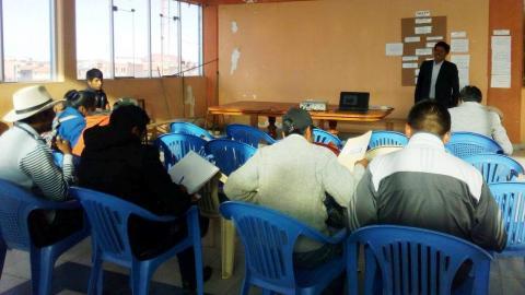 1er. encuentro de la Mesa Temática de la Juventud de la MCLCP de la Provincia de El Collao - Ilave