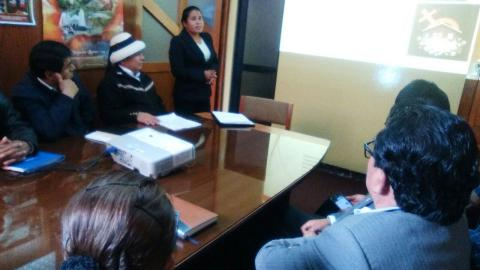 MCLCP Apurímac Apoya en reunión de sensibilización de los altos índices de violencia hacía mujeres a consejeros, con el COREM