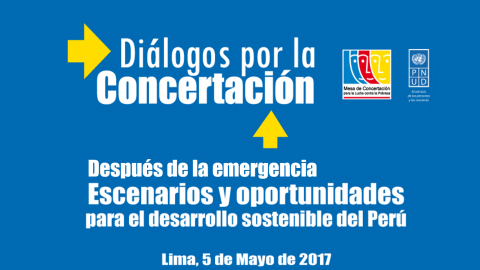 Mesa de Concertación Para la Lucha Contra la Pobreza convoca a diálogo para reconstrucción sostenible