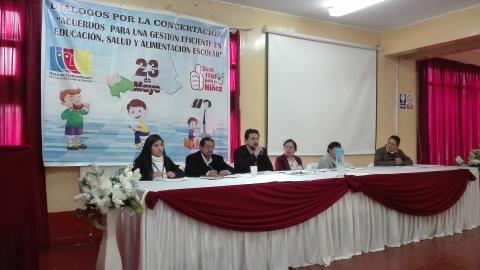 Avances y retos para el Inicio del Año Escolar fueron debatidos en Diálogos por la Concertación