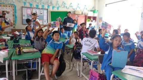 """Campaña consulta ciudadana """"La Voz de Mi Comunidad"""" en la institución educativa Luis Fabio Xammar Jurado"""