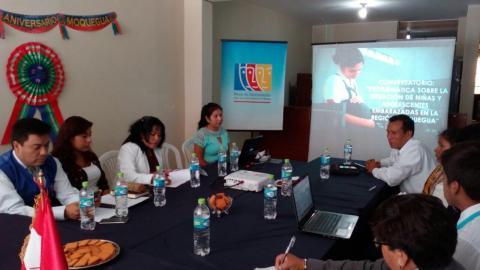 """conversatorio: """"Problemática sobre la situación de niñas y adolescentes embarazadas en la región Moquegua"""""""