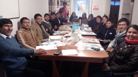 Organizaciones juveniles reafirman su participación en la MCLCP de Cusco 2018-2019