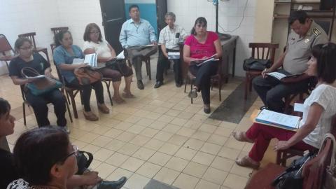 Reunión de designación o elección de la Coordinación MCLCP Huaral