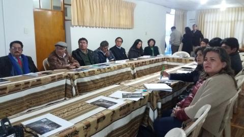 """MCLCP participa en el  conversatorio  """"Salvemos el Qota Titi"""", des contaminación del lago y la construcción de las plantas de tratamiento"""