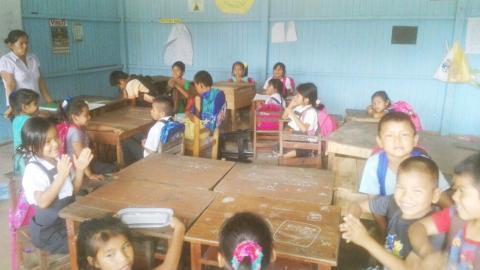 Veeduría al inicio de clases en escuela bilingüe de Comunidad Nativa Nuevo San Juan en Yarinacocha