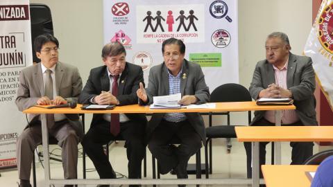 Organizaciones sociales de Junín realizarán foro cívico contra la corrupción