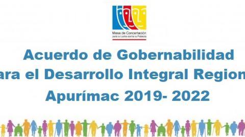 Mesa de Apurímac inicia proceso de diálogos del Acuerdo de Gobernabilidad al 2022
