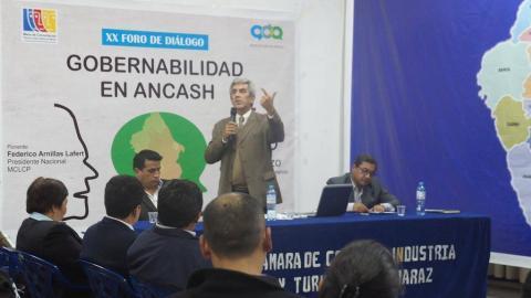 Foro Público sobre Gobernabilidad para fortalecer el diálogo en Ancash