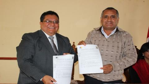 Alcalde de la provincia de Luya ratifica el Acuerdo de Gobernabilidad 2015 - 2018
