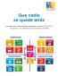Que nadie se quede atrás :Acuerdos vinculados a los Objetivos de Desarrollo Sostenible