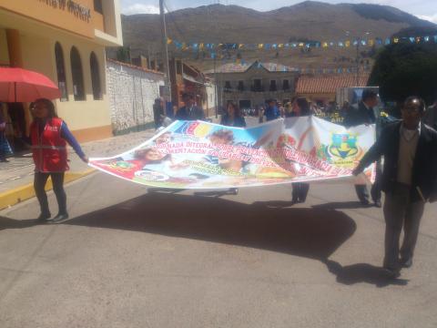 """La MCLCP provincial de Huancané realizó la """"I jornada integral sobre prevención de la violencia contra la mujer, y promoción de estilos de vida saludable"""""""