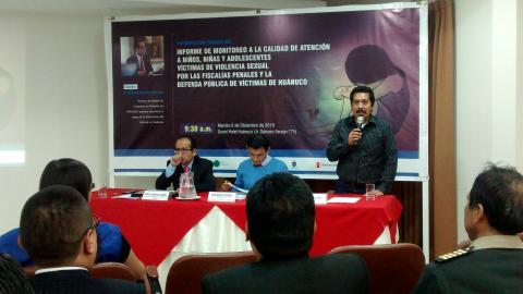 """Presentan """"Informe de monitoreo a la calidad de atención a niños, niñas y adolescentes víctimas de violencia sexual por las fiscalías penales y la defensa pública de víctimas de Huánuco"""""""