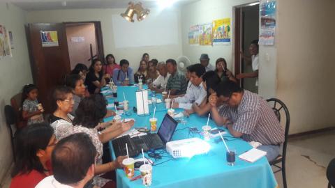 MCLCP de Ica analiza situación de familias afectadas por los huaycos y solicitará información sobre estado de escuelasReunión de Instalación del Comité Ejecutivo Regional de la MCLCP-Ica 2017