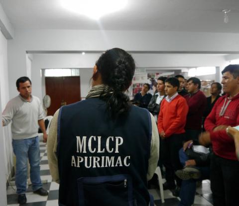 La  MCLCP-Apurímac realiza capacitación en mapeo de actores y espacios de concertación al Programa Nacional Tambos