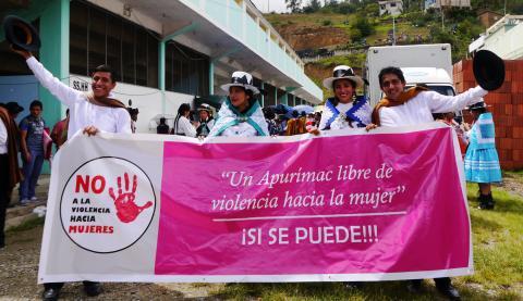 La MCLCP-Apurímac apoya al COREM en el Día Internacional de la Mujer