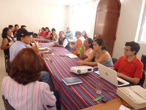 Reunión de coordinación con organizaciones e instituciones que promueven ayuda humanitaria