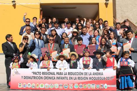 Suscripción Pacto Regional para la Reducción de la Anemia y Desnutrición Crónica Infantil