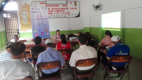 """Reuniòn de coordinaciones de la Mesa de concertaciòn de Contralmirante Villar para participaciòn en campaña: """"La voz de mi comunidad""""."""