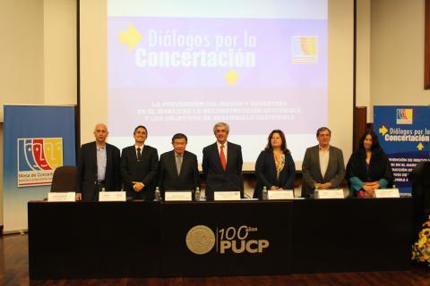 Mesa de Concertación analiza la prevención de riesgos y reconstrucción sostenible en zonas afectadas por El Niño Costero en Lima y Callao