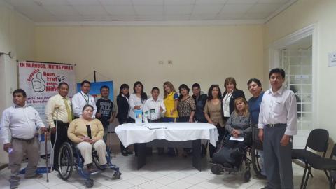 Reunión Ordinaria de Temática de Personas con Discapacidad de la MCLCP Huánuco.
