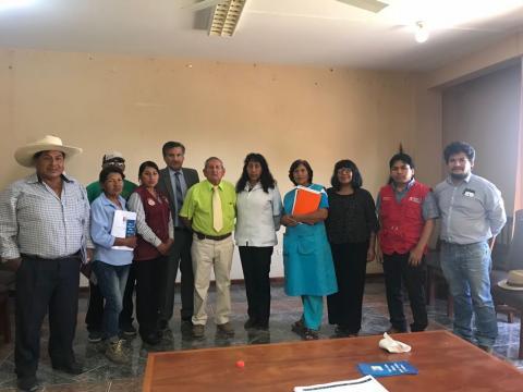 Instalación de la MCLCP en el distrito de Majes Pedregal