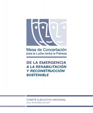 De la emergencia a la rehabilitación y reconstrucción sostenible