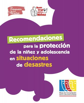 Recomendaciones para la protección de la niñez y adolescencia en situaciones de desastres