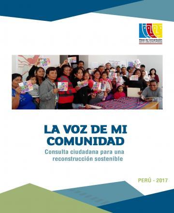 La Voz de mi comunidad - Consulta ciudadana para una reconstrucción sostenible