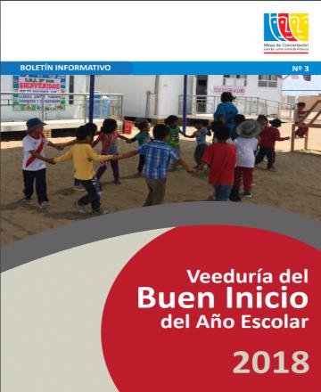 Boletín N3 - Veeduría al buen inicio del año escolar 2018